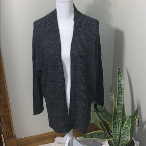 Gray waffle cardigan
